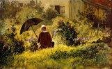 Der Maler im Garten