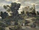 Der Gang nach Emmaus (Rechtes Bild der Fresken aus dem Gartensaal des Ratsherrn Karl Sarasin-Sauvain)