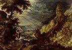 Das Opfer Abrahams im wilden Felsental