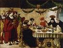 Der hl.Thomas von Aquin bei König Ludwig dem Heiligen