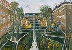 Der Garten des Altersheims in Amsterdam