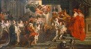 Die Krönung der Maria de'Medici zur Königin in Saint-Denis am 13. Mai