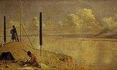 Streikposten an der Donau