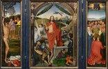 Auferstehungsaltar, Triptychon (Hl. Sebastian, Auferstehung, Himmelfahrt)