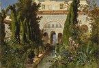 Der Garten des Generalife bei Granada