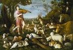 Orpheus spielt vor den Tieren
