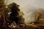 Picknick im Gebirge, am Ufer eines Sees