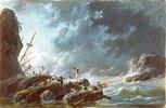 Seesturm mit Schiffswrack