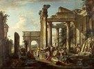 Freizeit der Soldaten inmitten römischer Ruinen