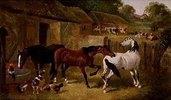Bauernhof mit Pferden und anderen Tieren