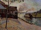 Dampfboot auf der Seine bei Alfortville