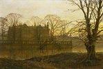 Englisches Landhaus im Herbstdunst