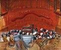 Das rote Orchester mit Paukistem (L'Orchestre Rouge au Timbalier)