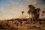 Rast einer Karawane in der Sahara bei El-Aghouat