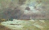 Sturm an der Küste bei Le Havre