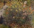 Zwei Damen im Blumengarten