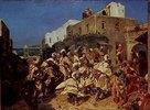 Tanzende Afrikaner in Algier