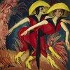 Zwei rote Tänzerinnen