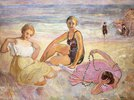 Drei Frauen am Strand (Trois Femmes à la Plage)
