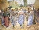 Tanzende Bauersfrauen