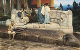 Exedra, Rundbank an einem römischen Haus