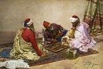 Araber spielen Back-Gammon