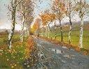 Herbstliche Allee nach Beaulie