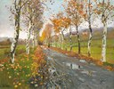 Herbstliche Allee nach Beaulieu