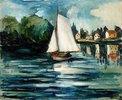Segelboot auf der Seine bei Chatou