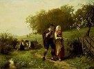 Junges alpenländisches Paar im Frühling