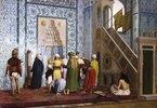 Betende Moslems in der Blauen Moschee