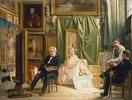 Im Atelier des Künstlers Victor Mottez, Vater des Malers Henri Mottez