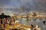 Blick über die Lagune auf die Piazza San Marco, Venedig