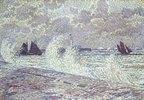 Stürmische See bei Boulogne-sur-Mer. 1900.