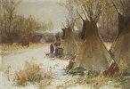 Indianerlager im Schnee