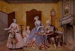 Nikolausbescherung in der kaiserlichen Familie Josephs II. Kopie, ausgeführt