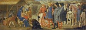 Die Anbetung der Könige (Mitteltafel einer Altarpredella)