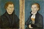 Martin Luther und Katharina von Bora (Zwei Gemälde)