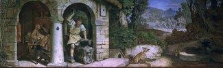 Der Schmied von Ruhla. Fresko im Landgrafenzimmer des Landgrafen-Hauses