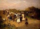 Heimkehr der Erntearbeiter