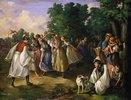 Tanz in einem ungarischen Dorf