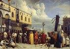 Die Beerdigung Tizians während der Pest in Venedig 1576. Entstanden
