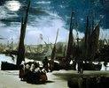 Vollmondnacht im Hafen von Boulogne