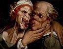 Karrikatur eines alten Paares