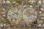 Erdkarte in Hemisphären (Feldherrnkarte)