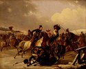 Kosaken überfallen eine französische Einheit