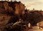 Felsiges Waldtal bei Civita Castellana. 1826/27