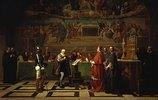 Galileo Galilei vor der Inquisition im Vatikan 1632. Entstanden