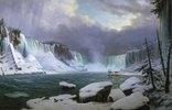 Panorama der Niagara-Fälle im Winter
