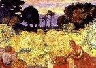 Frau und Kind (Gelbe Landschaft)